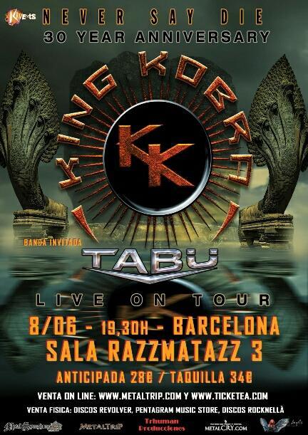 Concierto King Kobra + TABÜ